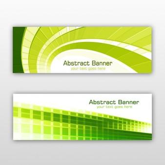 Groene geplaatste banners