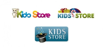 Kinderen logo design template voor online winkel