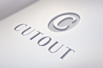 Licht logo mockup met schone gegevens