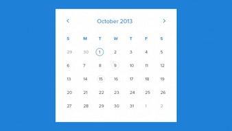 Maandelijkse kalender template