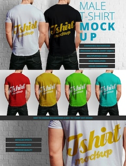 Man t-shirt mock up design