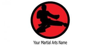 Martial arts logo ontwerpsjabloon