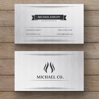Minimale witte visitekaartje