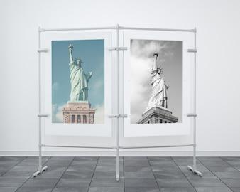 Modern frame mock up