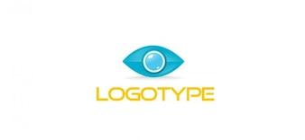 Oog logo sjabloon voor bedrijfs-en communicatie