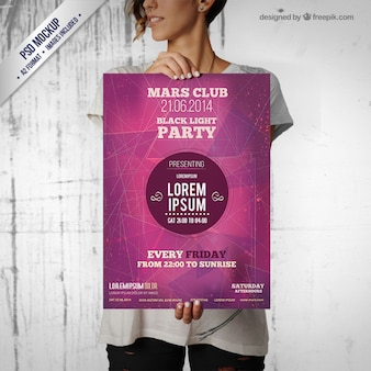 Party poster mockup