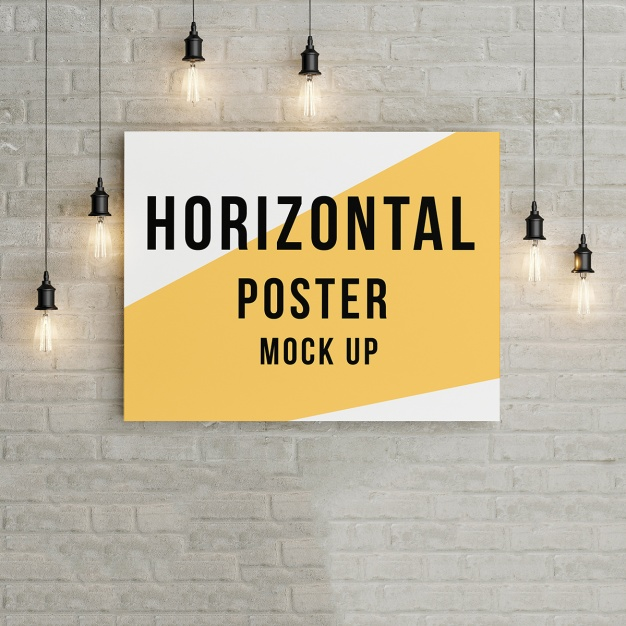 Poster mock up template
