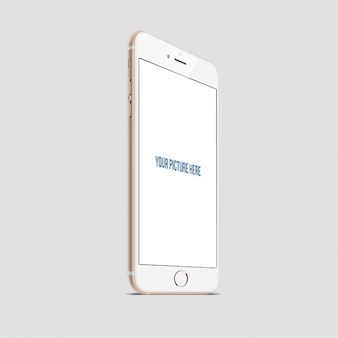 Realistische iphone mockup