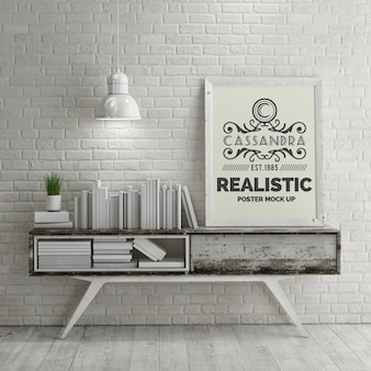Realistische poster mock up