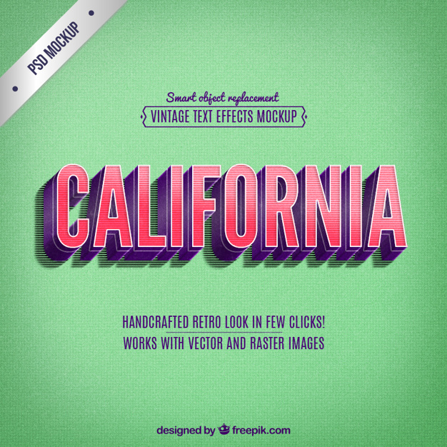 Retro california belettering