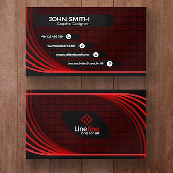 Rood en zwart corporate business card