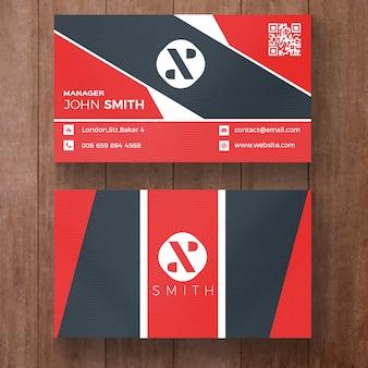 Rood en zwart zakelijke visitekaartje