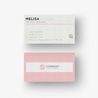 Roze adreskaartje sjabloon