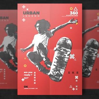 Skateboard gebeurtenis flyer