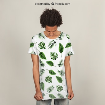 T-shirt print mockup