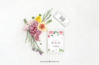 Tablet en mobiele telefoon mockup ontwerp