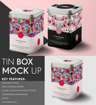 Tin box mock up ontwerp