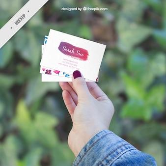 Verschillende creatieve corporate card mockups