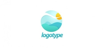 Vrij landschap logo ontwerp