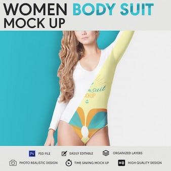 Vrouwen body suit mock up