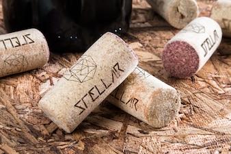 Wijn kurk mock up design