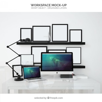 Workplace mockup