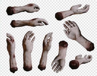 Zombie handen collectie