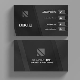 Zwart visitekaartje