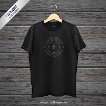 Zwarte t-shirt mockup