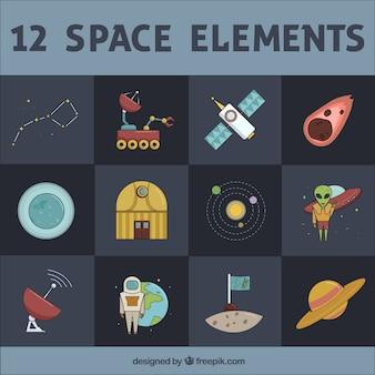 12 ruimte elementen
