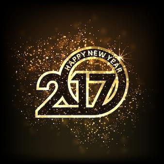 2017 goud schittert achtergrond