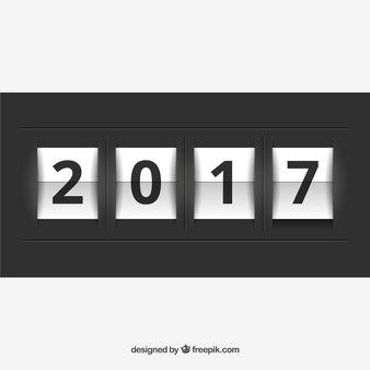 2017 nieuwe jaar teller