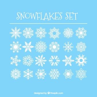 24 eenvoudige sneeuwvlokken set
