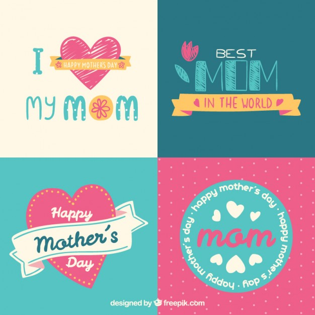 4 Beautiful Mother's Day kaarten