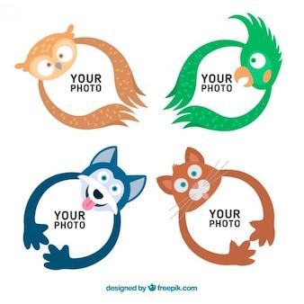 Aangenaam fotolijst van de dieren