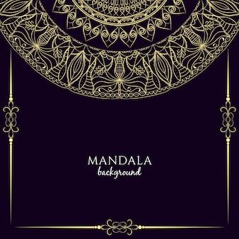 Abstract artistieke mandala ontwerp achtergrond