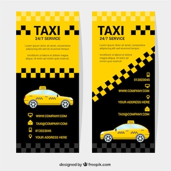 Abstract banners van taxi
