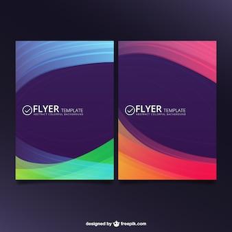 Abstract flyer in kleurrijke stijl