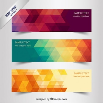 Abstract geometrische banners