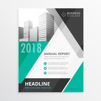 Abstract geometrische zakelijke brochure flyer ontwerp in formaat A4