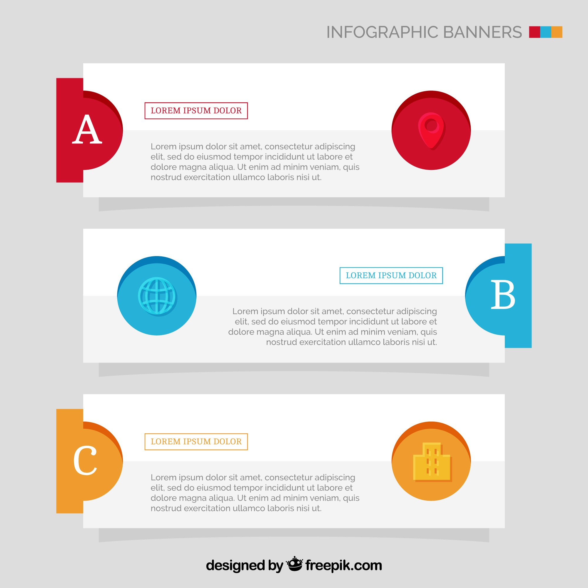 Abstract infographic banners