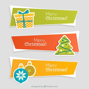 Abstract kerst banners