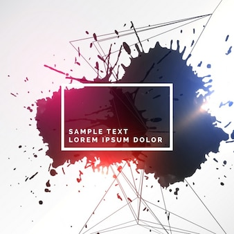 Abstract kleurrijke inkt grunge achtergrond
