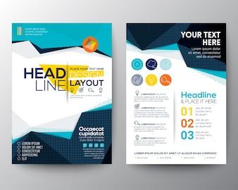 Abstract lage veelhoek driehoek vorm achtergrond voor Poster Brochure Flyer outsjabloon