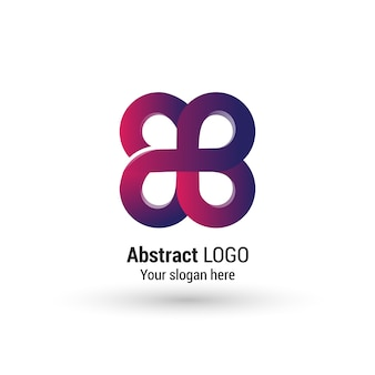 Abstract logo ontwerp
