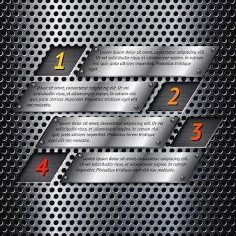 Abstract metalen infographics sjabloon