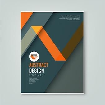 Abstract oranje lijn ontwerp op donkere grijze achtergrond sjabloon voor zakelijke jaarverslag boekomslag brochure flyer poster