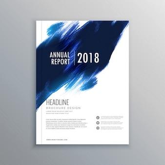 Abstract pennenstreek brochure flyer ontwerp