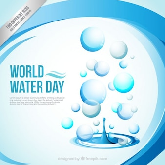 Abstract World Water Day achtergrond