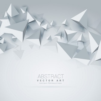 Abstracte 3D-driehoek vormen de achtergrond